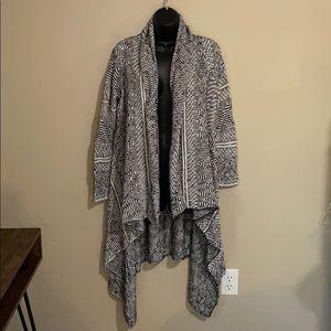 Maje Black White Cardigan Sweater Coat Size 1 Sm